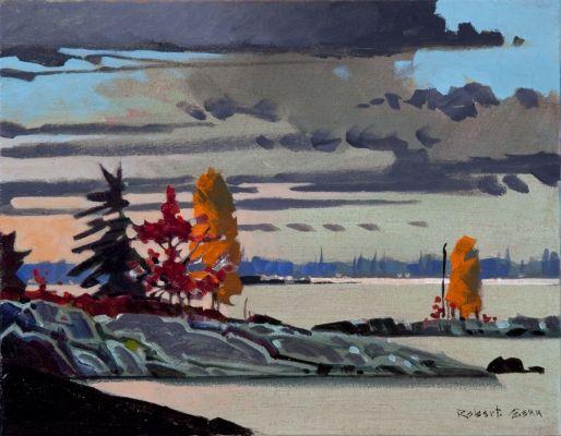 Sombre, lac Joseph par Robert Genn