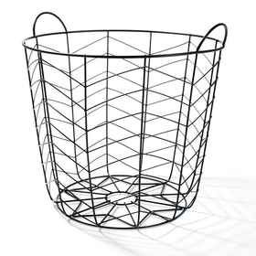 Black Round Wire Basket