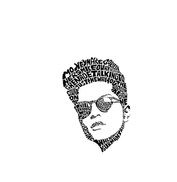 Bruno Mars Sketch Art