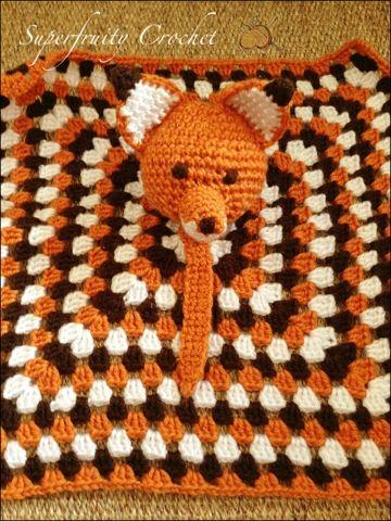 Little Mr Fox Comforter or Lovey - Free Amigurumi Crochet Pattern here: http://superfruitycrochet.blogspot.com.au/2013/08/that-fantastic-little-mr-fox.html?m=1