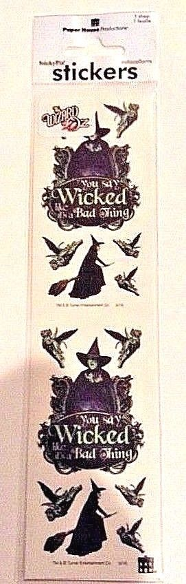 Wizard Of Oz Wicked Witch Winged Monkey Stickers Paper House Productions Craft  #PaperHouseProductions #Cardstock