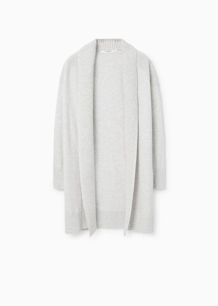 Textured cotton cardigan -  Woman | OUTLET Slovakia