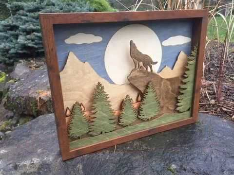 Cutting Edge Laser Services Creating Custom Artwork - 3D Wood Shadow Boxes