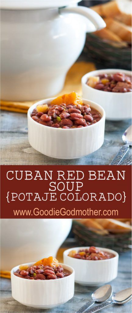 The best red bean soup recipe I've ever tried, this Cuban red bean soup - potaje colorado - is a family favorite! The recipe includes instructions for making on the stove top or in an Instant Pot! * GoodieGodmother.com