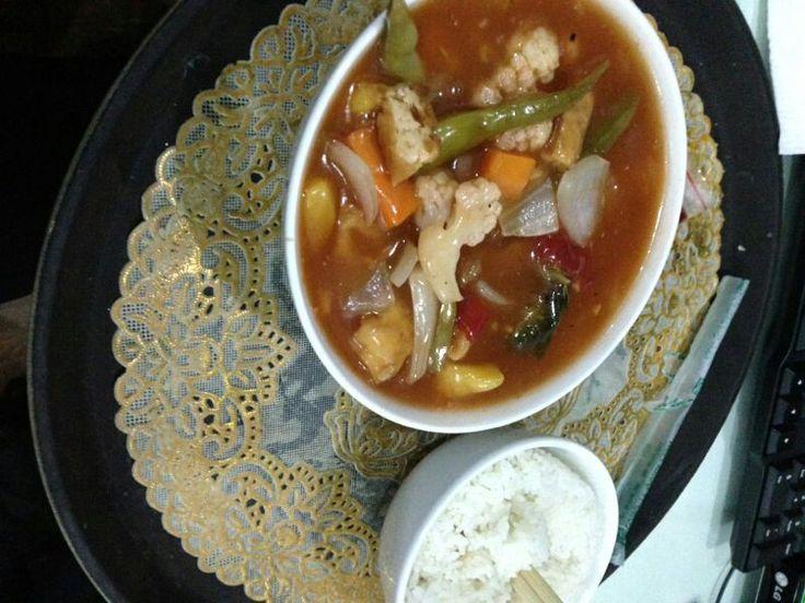 Beautiful vietnamese food. Tomato and tofu