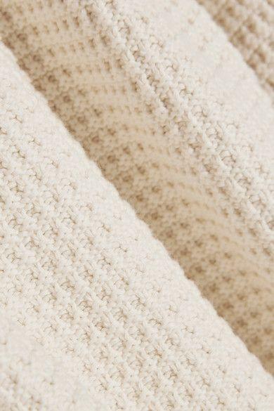M.i.h Jeans - Open-back Cotton Sweater - Cream