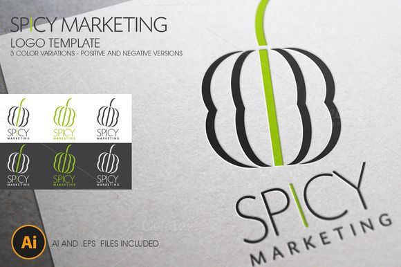I just released Spicy Marketing Logo Template on Creative Market.