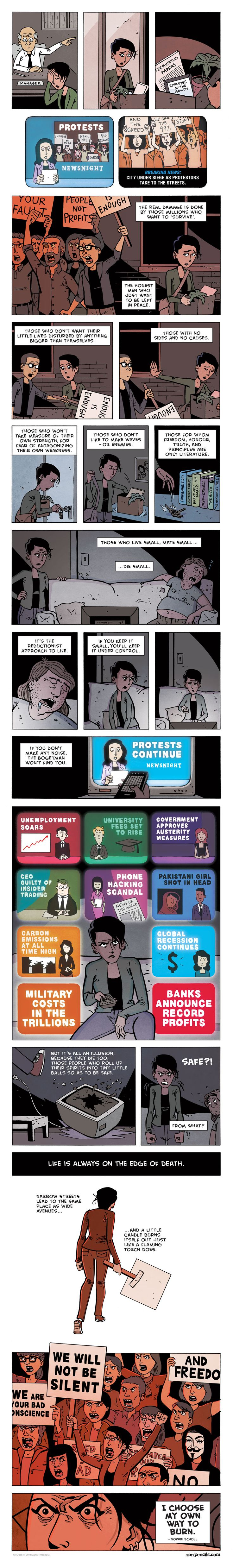 Comic Uses Sophie Scholl to Depict Social Frustrations