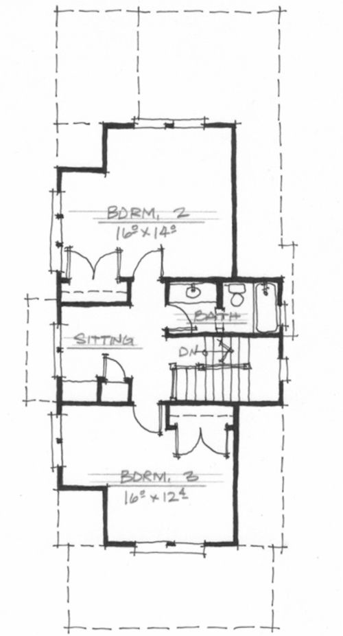 Poet 39 s cottage nc0022 by allison ramsey architects Allison ramsey house plans