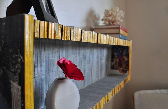 Recycled Magazine Shelf: Diy Ideas, Bookshelves, Books Shelves, National Geographic, Magazines Shelf, Old Magazines, Cool Ideas, Sean Miller, Recycled Magazines