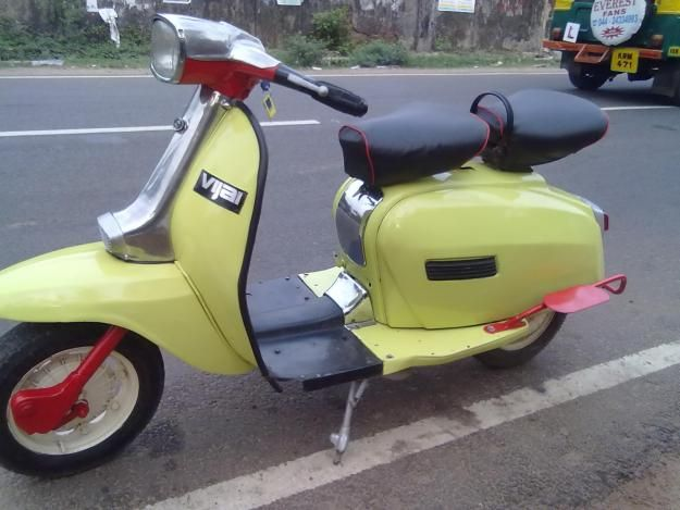 In 1972, Scooters India Ltd. (SIL), bought the entire Lambretta manufacturing and trademark rights. The first scooter built was the Vijay Delux/DL, which was badged the Lambretta GP150 in export markets.
