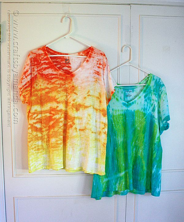 Sunshine Ombre Shibori Tie Dye Top - Crafts by Amanda