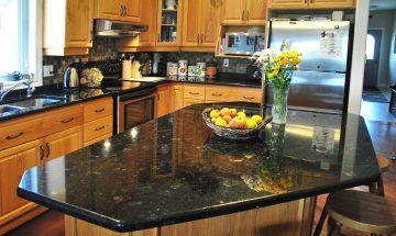 Peacock Green Granite Countertops Color for Kitchen Granite Countertops Standard 3