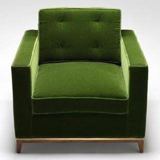 Gorgeous midcentury modern armchair in velvet green