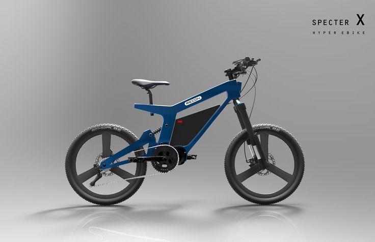 SpecterX ebike  1000w mid motor 25ah lg battery Front led light & rear light Speed : 60km