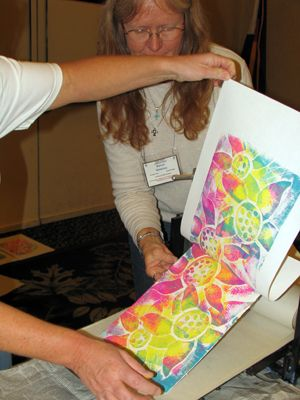 printmaking, shape, fabulous three-color Collograph printing lesson has great photos and simple materials!!!!