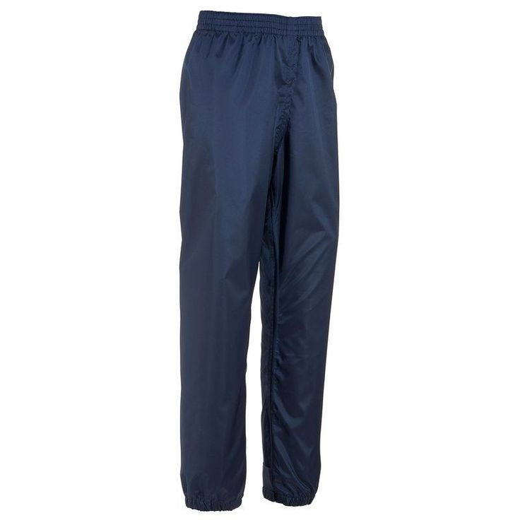 £5.99 - 35 - Hiking - Raincut Children's Waterproof Trousers - Navy - QUECHUA