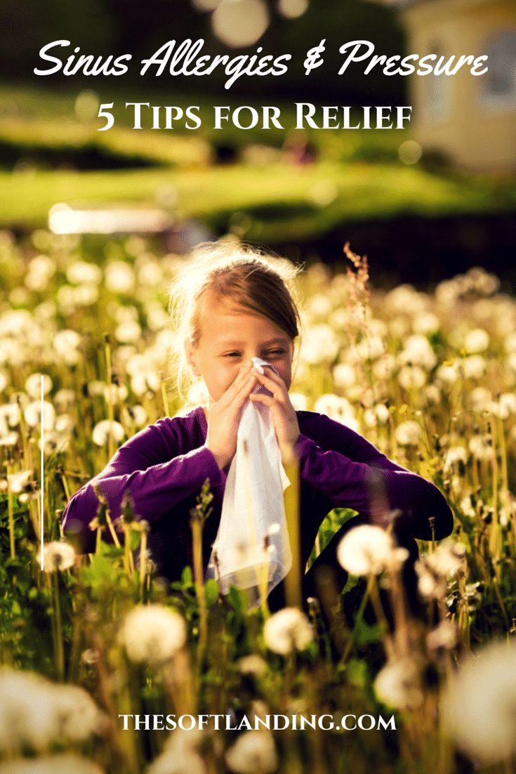 5 Tips for Relieving Sinus Allergies and Pressure via @thesoftlanding