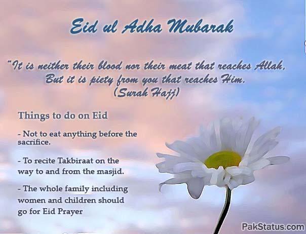 Eid Al Adha SMS Wishes