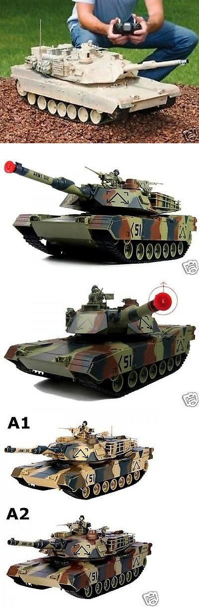Tanks and Military Vehicles 45986: Rc Tank M1a2 Abrams Usa Airsoft Tank Toy 16 Military Battle Vechile W Sound -> BUY IT NOW ONLY: $85.61 on eBay!
