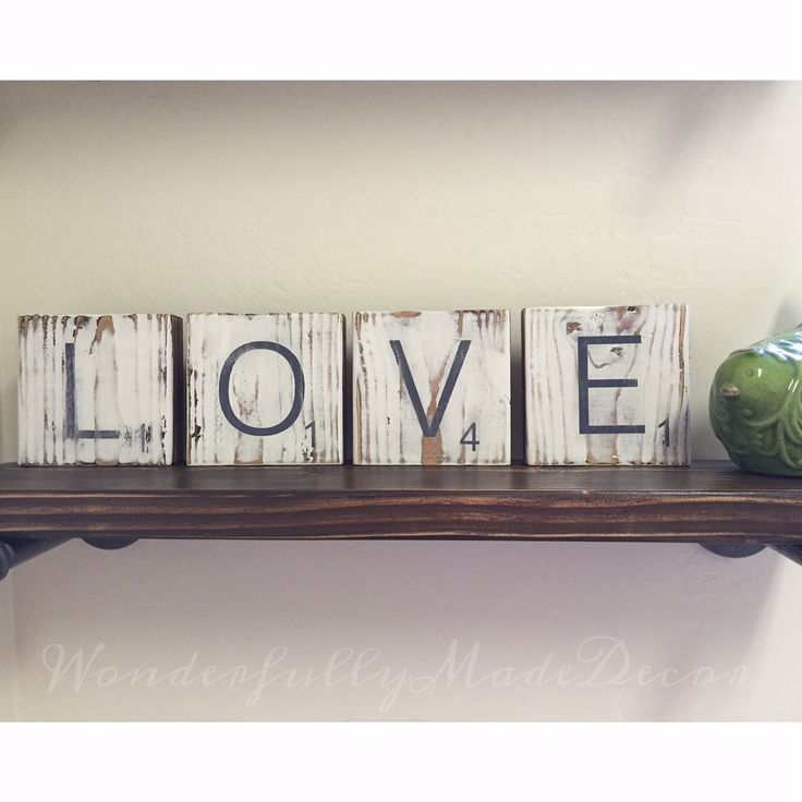 scrabble tiles large letters reclaimed wood jumbo size tile personalize customize your name oversized letter home homemade home decorhomemade