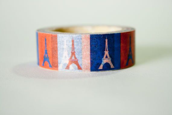 Eifel Tower Washi Tape by HexagonInc on Etsy, $3.50