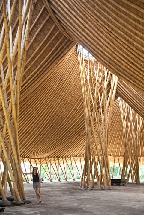 3407 best buildings i love and other interesting for Bamboo roofing materials