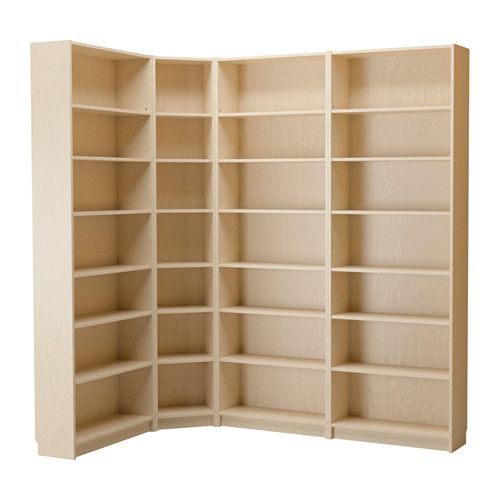 BILLY Bookcase IKEA BILLY corner fittings make it easy to build storage in corners and keep the bookcases in place.