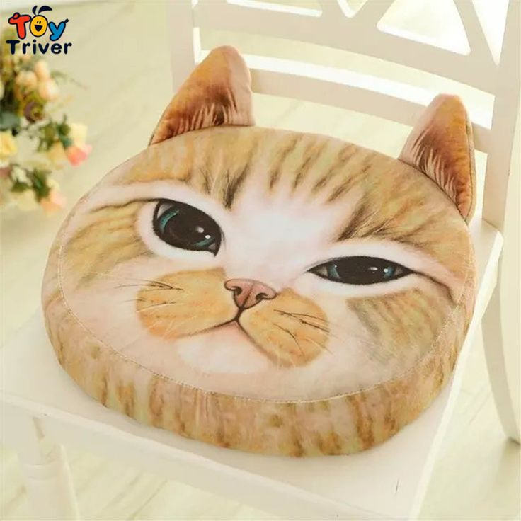 $13.99!Creative 3D simulation Soft Plush cat Office Chair Back Cushion Sofa pad home decoration Gifts For Friend Lover Free Shipping Triver Toy