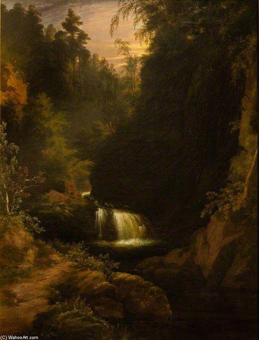Waterfall de James William Giles (1801-1870, United Kingdom)