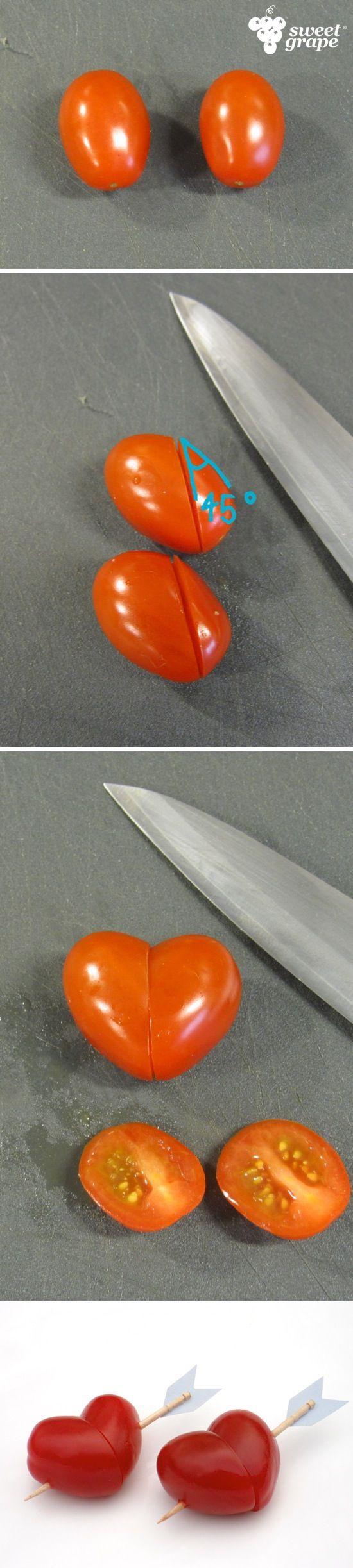 Você não precisa esperar por uma data específica para demonstrar seu amor. Use Sweet Grape para criar uma surpresa criativa s2 #amor #love #sweetgrape #tomate #heart