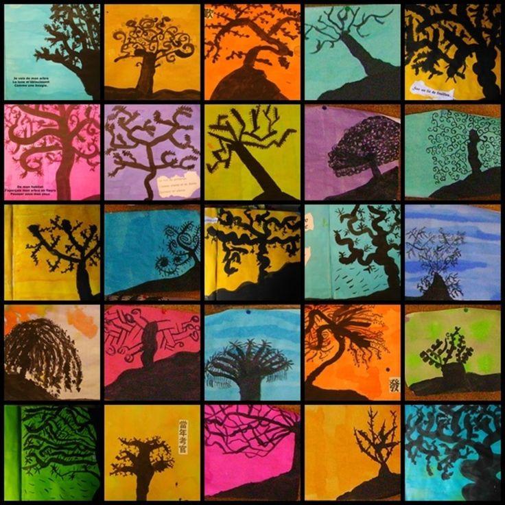 Pour les habitués du blog, voici les silhouettes d'arbres à l'encre version 2013 pour illustrer les haïkus écrits par les élèves (comme j'ai un cours double, j'alterne certaines activités tous ...