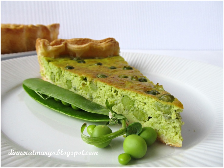 Pie peas flavored with mint