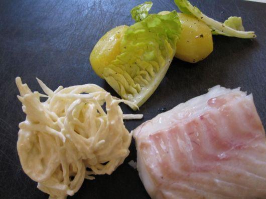 Bagt torsk med selleriremoulade