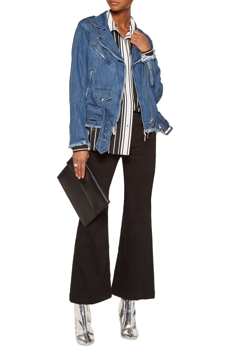 Shop on-sale Marques' Almeida Frayed denim biker jacket. Browse other discount designer Jackets & more on The Most Fashionable Fashion Outlet, THE OUTNET.COM