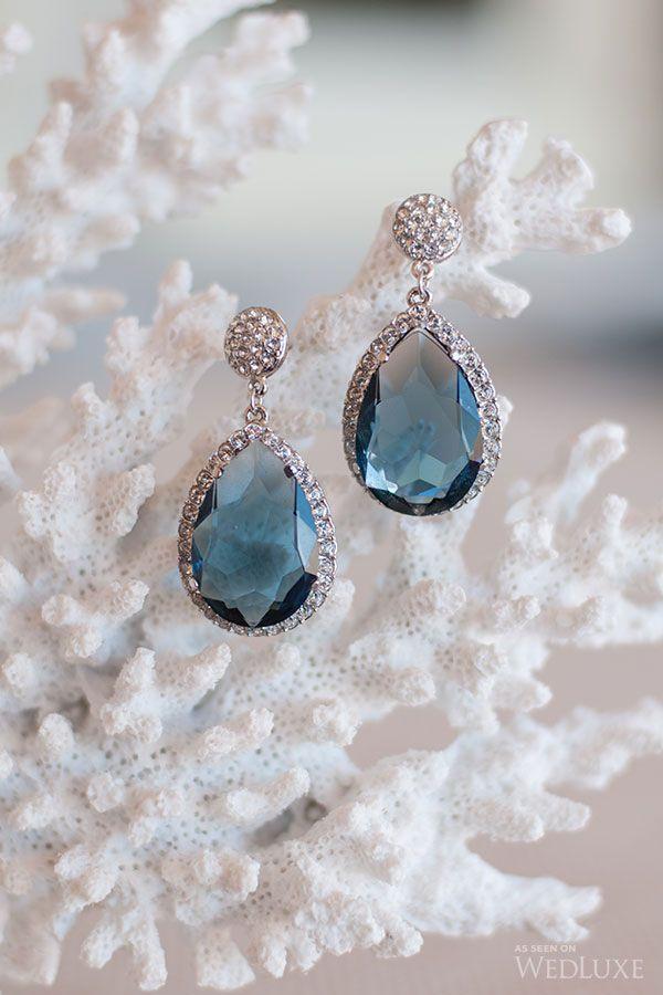 Aquamarine drop earrings. Tara Fava Jewellry. | Photography by: Krista Fox.