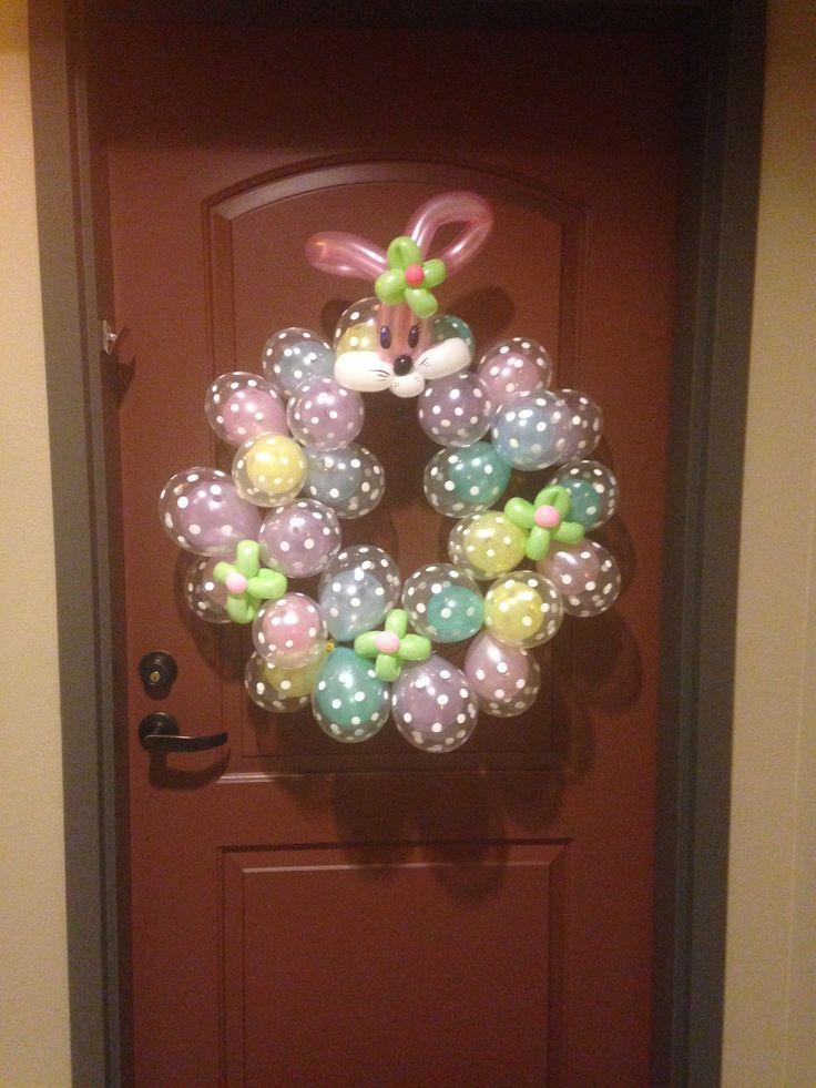 Easter Door Decor Balloon Decor Pinterest Easter