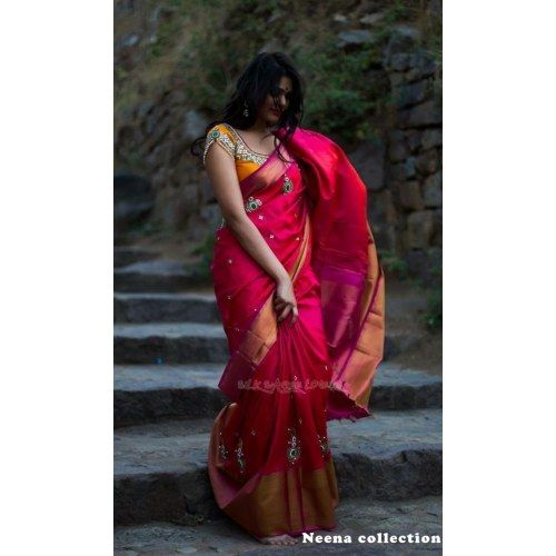 Online Shopping for Kanchipuram Silk Sarees | Silk Sarees | Unique Indian Products by Neena Collections - MNEEN49628625100