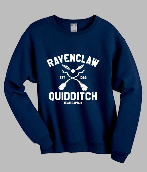 Ravenclaw Quidditch Harry Potter Inspired Jumper Sweater Sweatshirt - Hogwarts Tumblr Sweatshirt Pinterest Clothing Size S M L XL XXL by coolsweatshirtsusa on Etsy https://www.etsy.com/listing/479003291/ravenclaw-quidditch-harry-potter