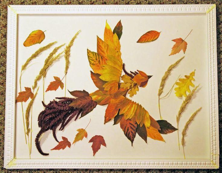 Открытки день, картинки из сухих листьев своими руками