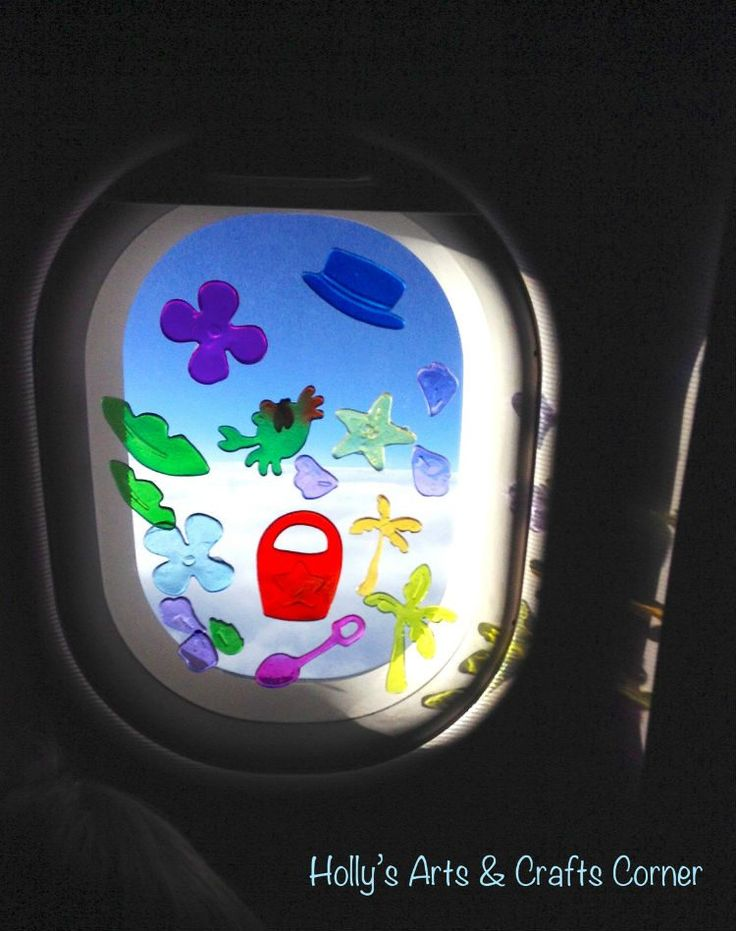 Window clings on airplane for kids!!! 19 Amazing Air Travel Hacks You'll Need for Your Next Flight