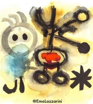 Inviti d'arte: aprile 2015. Una carrellata di 38 eventi tra spettacoli, concerti, opere, e mostre in partenza. La copertina d'artista di Emanuela Lazzarini è dedicata all'allegria di Joan Mirò.