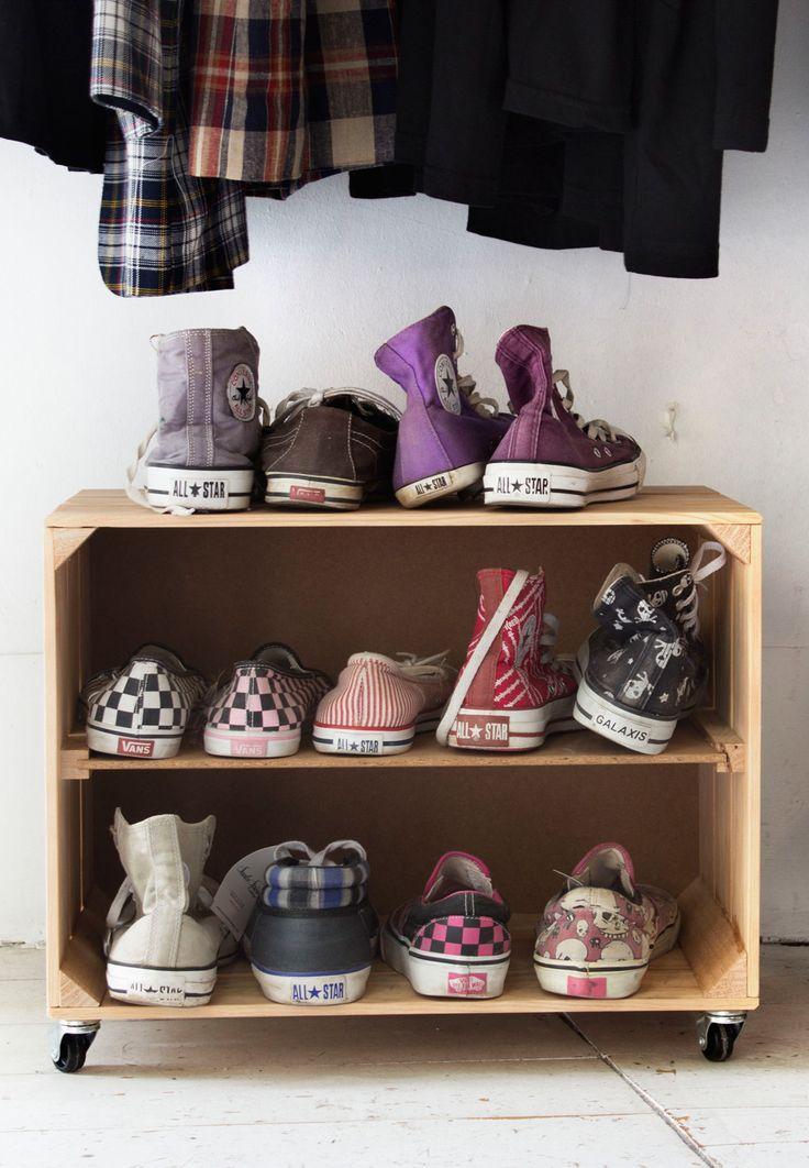 meer dan 1000 idee n over schuhschrank selber bauen op pinterest schoenenkast schoenenrekken. Black Bedroom Furniture Sets. Home Design Ideas