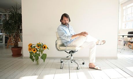 Peter Saville: 'Record sleeves are a dead art.'         . Photograph: Martin Godwin for the Guardian