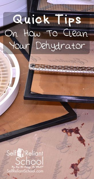 We offer some tips and tricks on how to clean your dehydrator and get the really stubborn bits cleaned. #beselfreliant