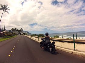 Motorcycle adventure, Kauai, Hawaii