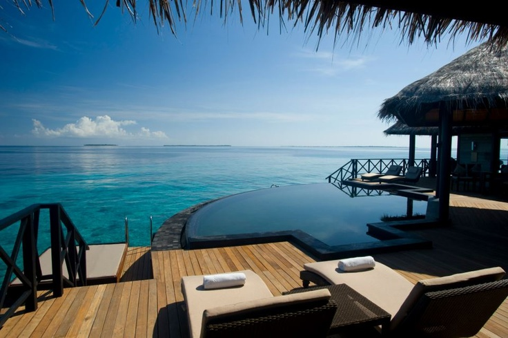 The Beach House at Iruveli Maldives has large open plan luxurious villas, each with its own private plunge pool and villa host.    This is the quite amazing Grand Water Pavilion...