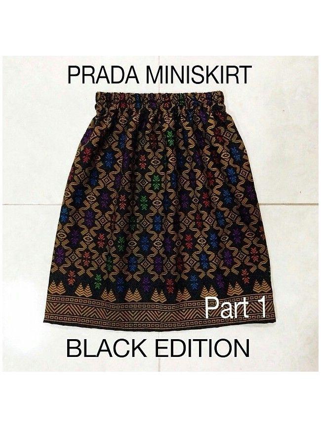 Balinese Prada Mini Skirt Black Edition RK089-LOCAL Model  RK089-PRADA Condition  New  Skirt length : 48cm Waist : 60-90cm Hips : 70-92cm Material satin Retail price: IDR 70.000 Reseller price : IDR 52.500 Wholesaler price : IDR 45.500