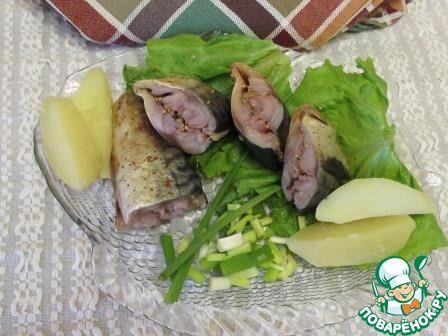 Скумбрия солёная из морозильной камеры - кулинарный рецепт