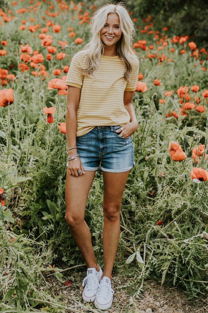 Savannah Stripe Tee – Hannah Trevethan